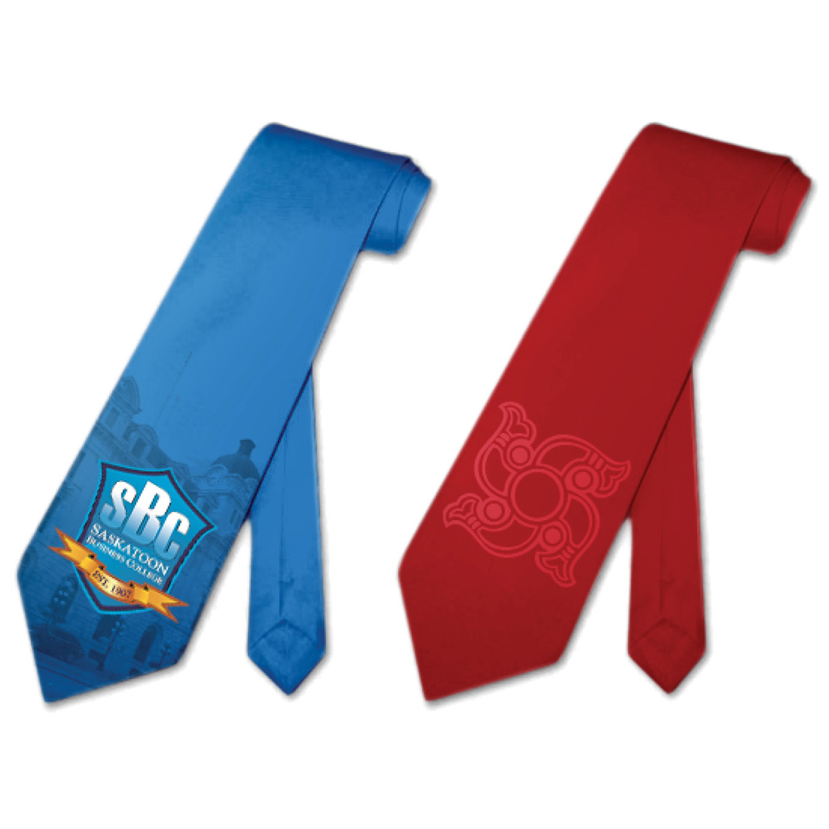 Sublimated Poly-Satin Neckties