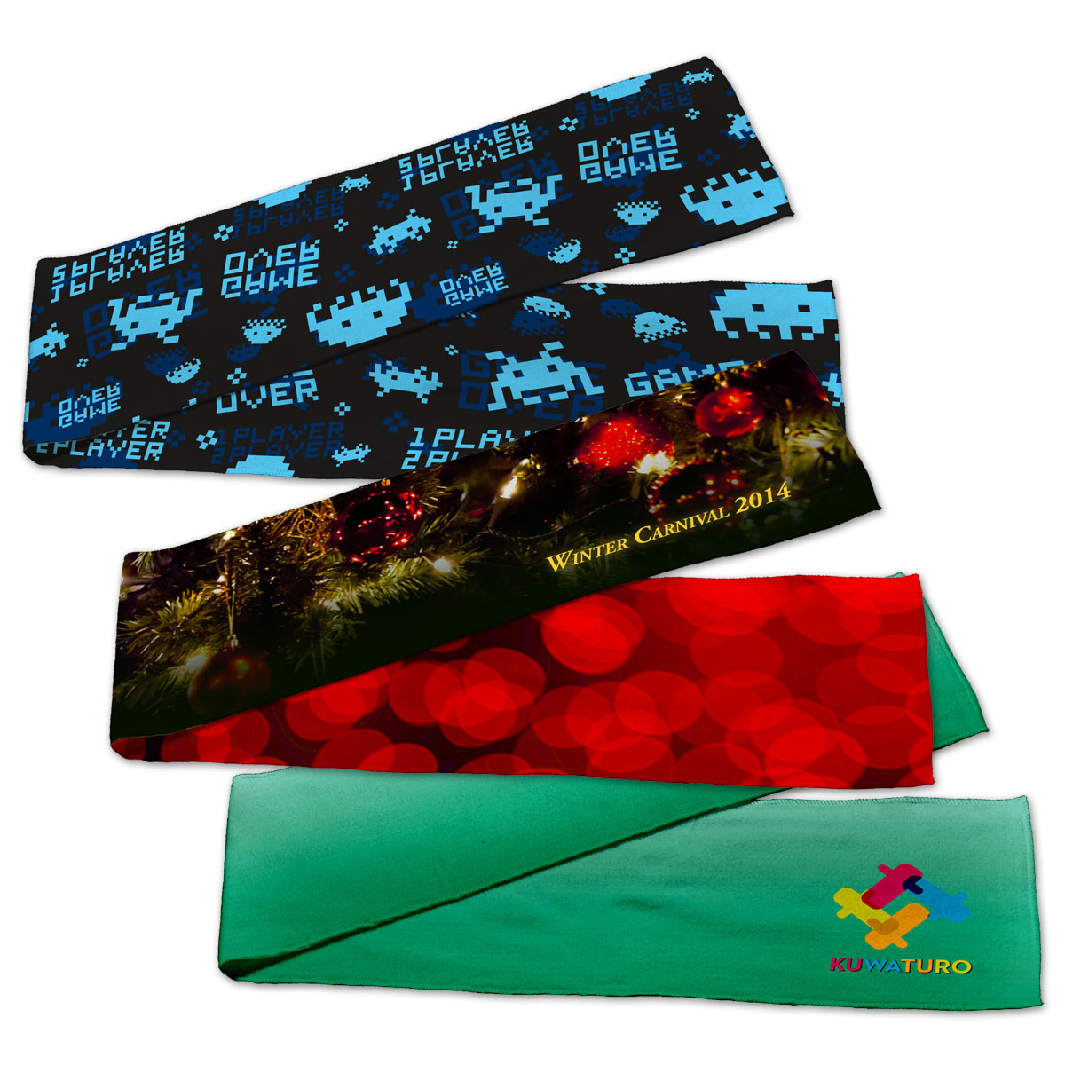 Dye Sublimated Fleece Scarves
